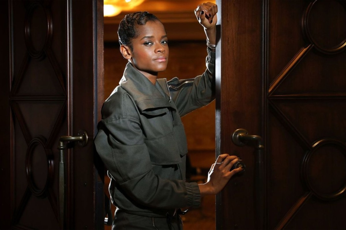 Actress Letitia Wright is becoming famous as Black Panther's sister Shuri in Marvel's blockbuster Black Panther. Photo: Christina House / Los Angeles Times