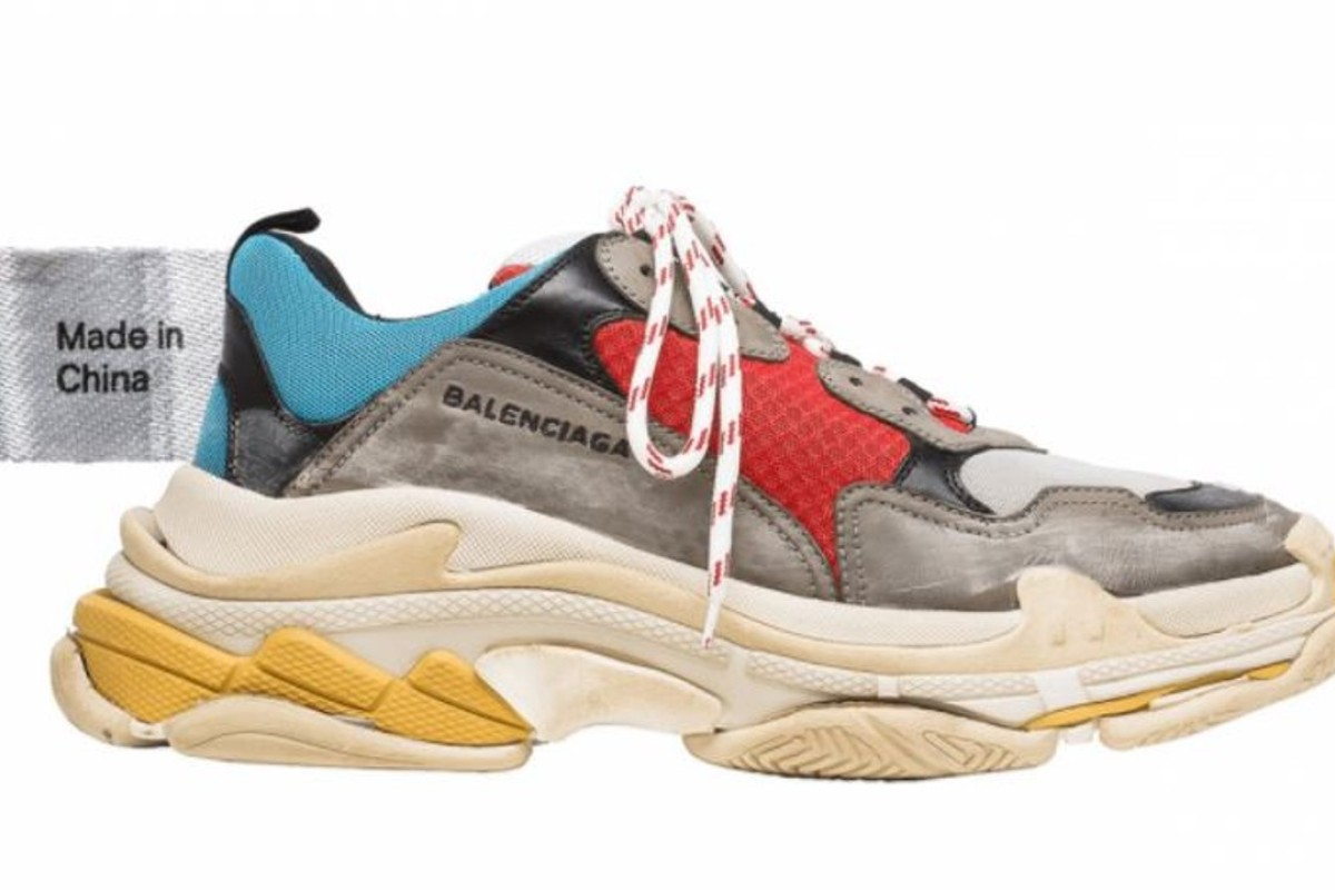 "Many mainland consumers say the China-made Balenciaga Triple S are overpriced at US$850 a pair, but the label says Chinese factories ""have the savoir faire and capacity to produce a lighter shoe"". Photo: Jing Daily (Balenciaga/Shutterstock)"