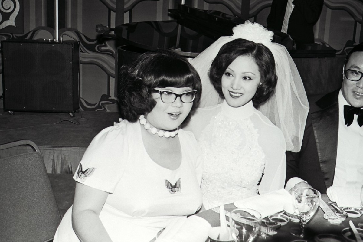 In 1973, Shum (left) was a bridesmaid at the wedding of actress Lily (centre) and George Chao Sze-kwong, son of the Wah Kwong Shipping chairman TY Chao.