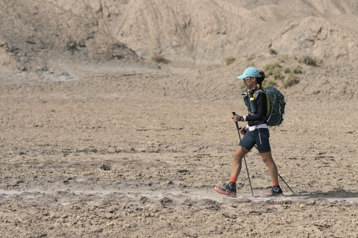Samantha Chan is looking forward to the race atmosphere in the GaoliGong, but enjoyed the peace and loneliness of the Gobi Desert: Lloyd Belcher Visuals