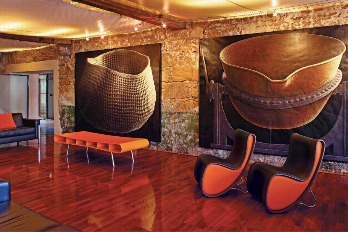 The foyer of the Henry Jones Art Hotel in Tasmania, Australia