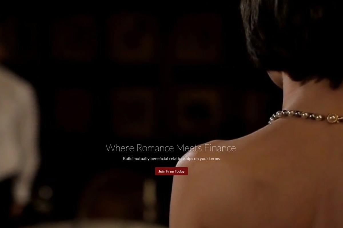 The SugarBook's website, with its motto: 'Where Romance Meets Finance'. Photo: Internet