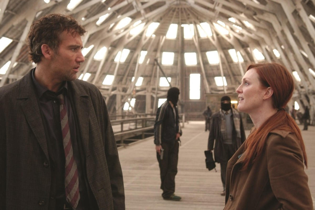 Clive Owen and Julianne Moore in Children of Men. Picture: Park Circus/Universal