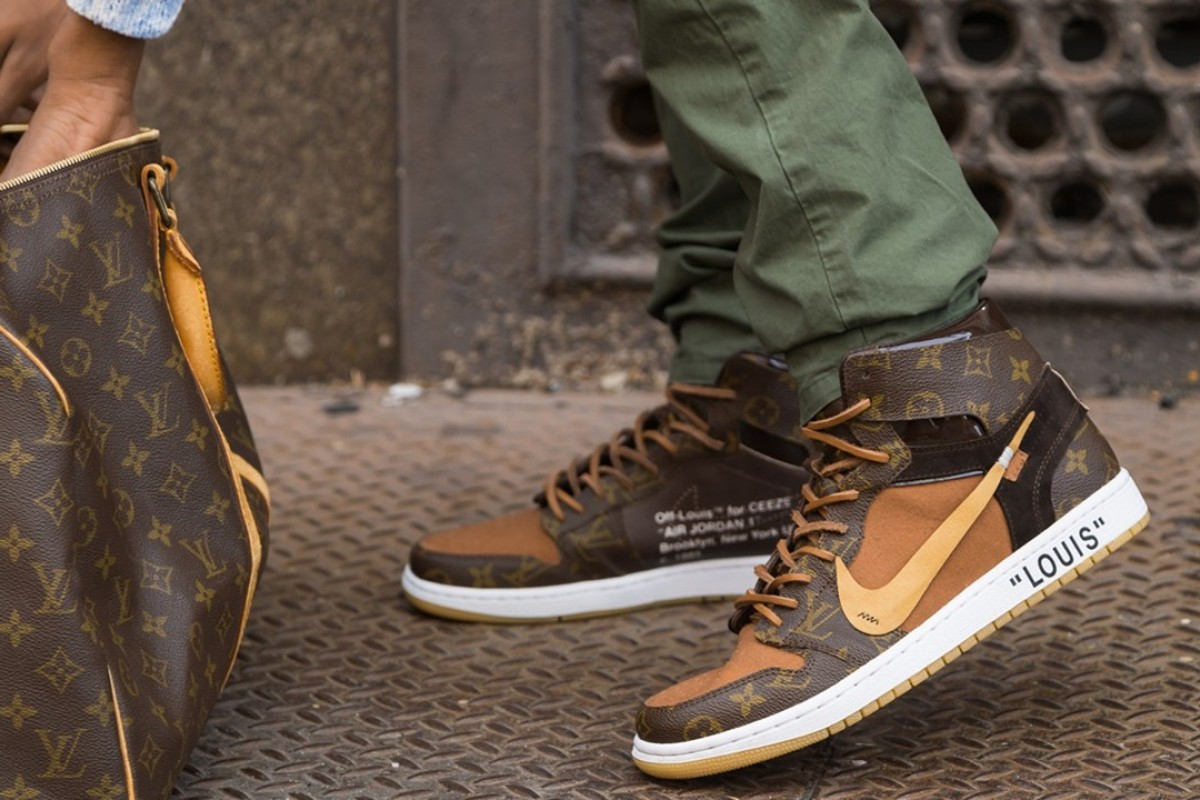 Nike's 'Off-Louis' Air Jordan 1 sneakers cost US$4,000 and are available from Ceeze's website. Photos: INANYC
