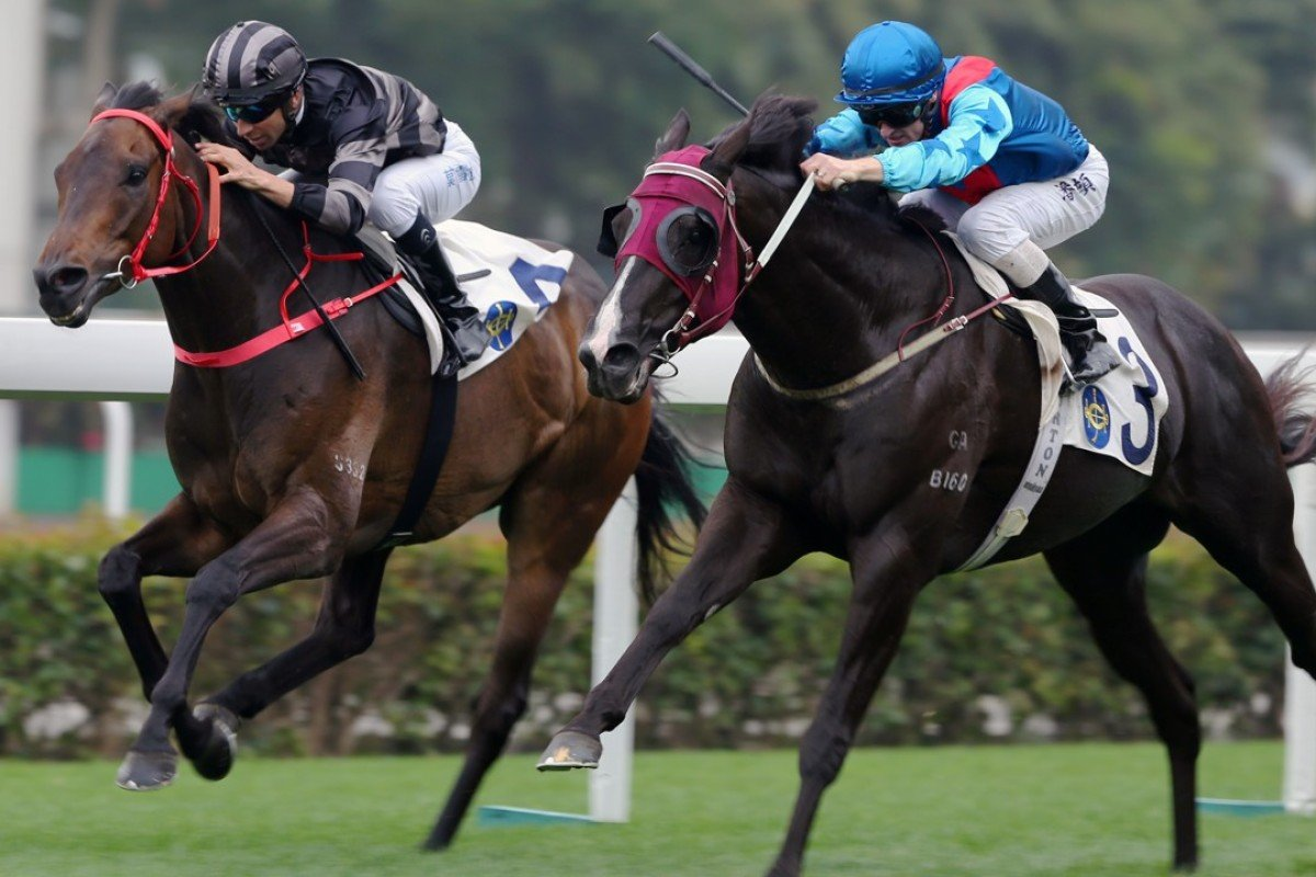 Ruthven winning a Class Two race at Sha Tin in March. Photos: Kenneth Chan