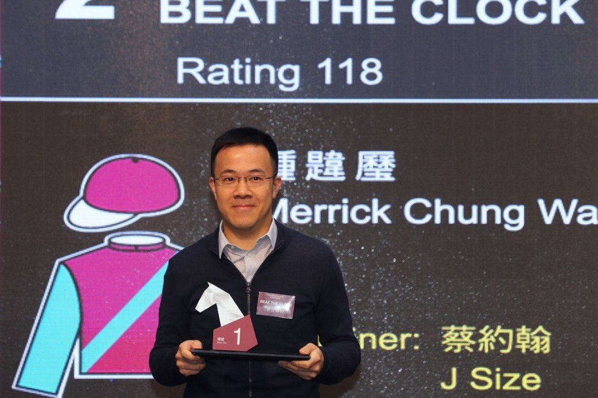 Beat The Clock's owner Merrick Chung draws barrier one for the Champion's Sprint Prize. Photos: Kenneth Chan