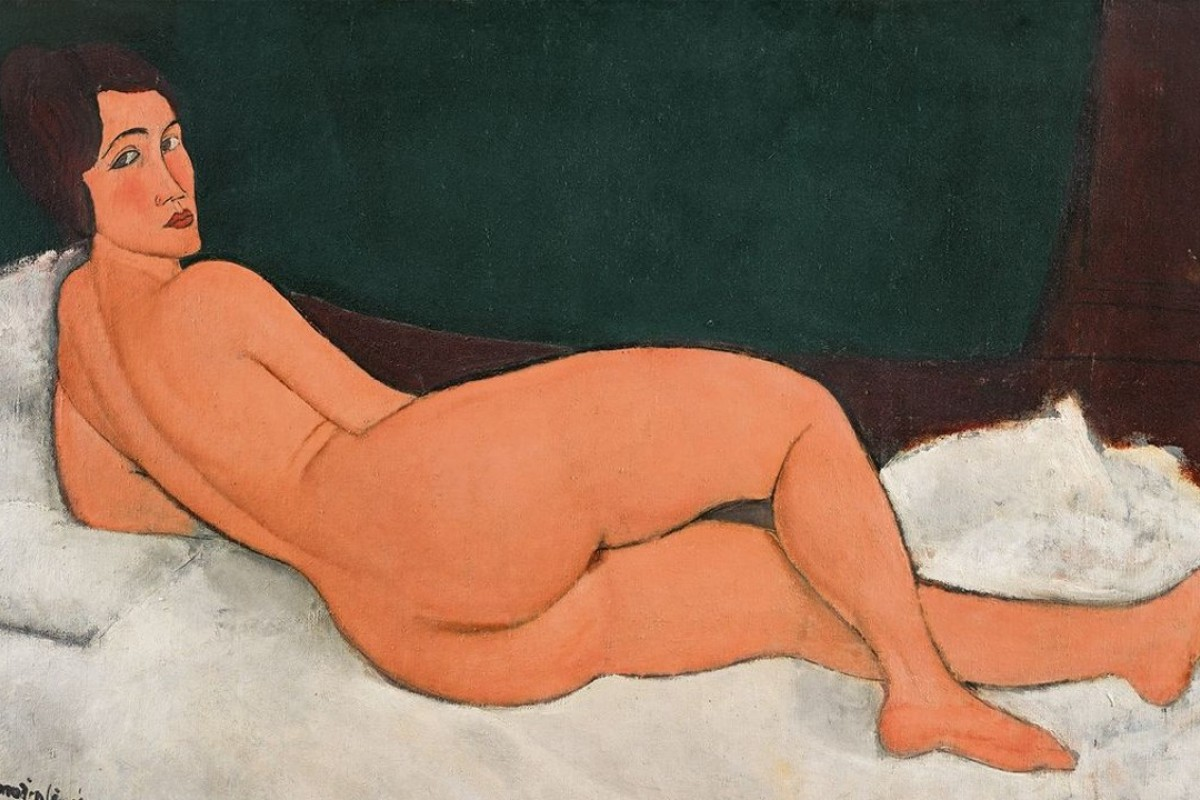 The artwork 'Nu couche (sur le cote gauche)' or 'Reclining Nude' by Amedeo Modigliani, which has an estimated value of US$150 million and is being auctioned in May. Photo: Sotheby's
