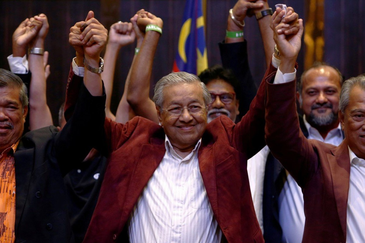 Victorious: Mahathir Mohamad. Photo: Reuters