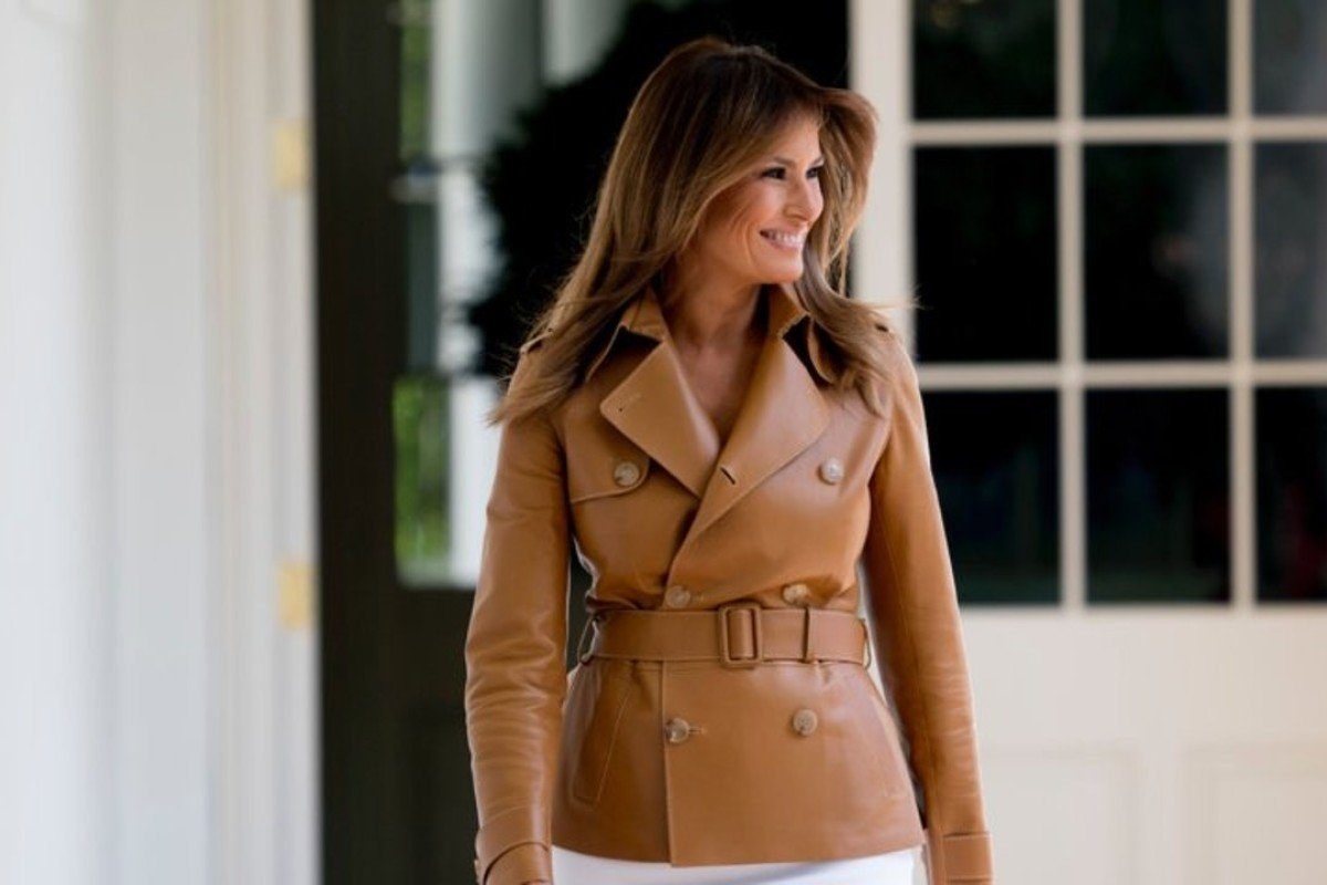 US first lady Melania Trump, pictured arriving for the launch of her 'Be Best' initiative event at the White House on May 7, is a former model. Photo: AP