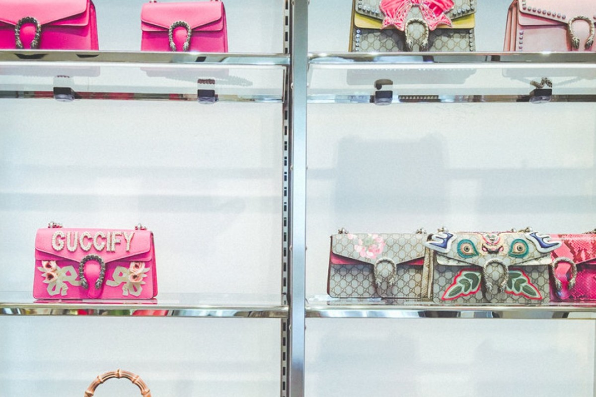 Handbags on display at Gucci's boutique in downtown Manhattan. Photo: Business Insider/Jessica Tyler