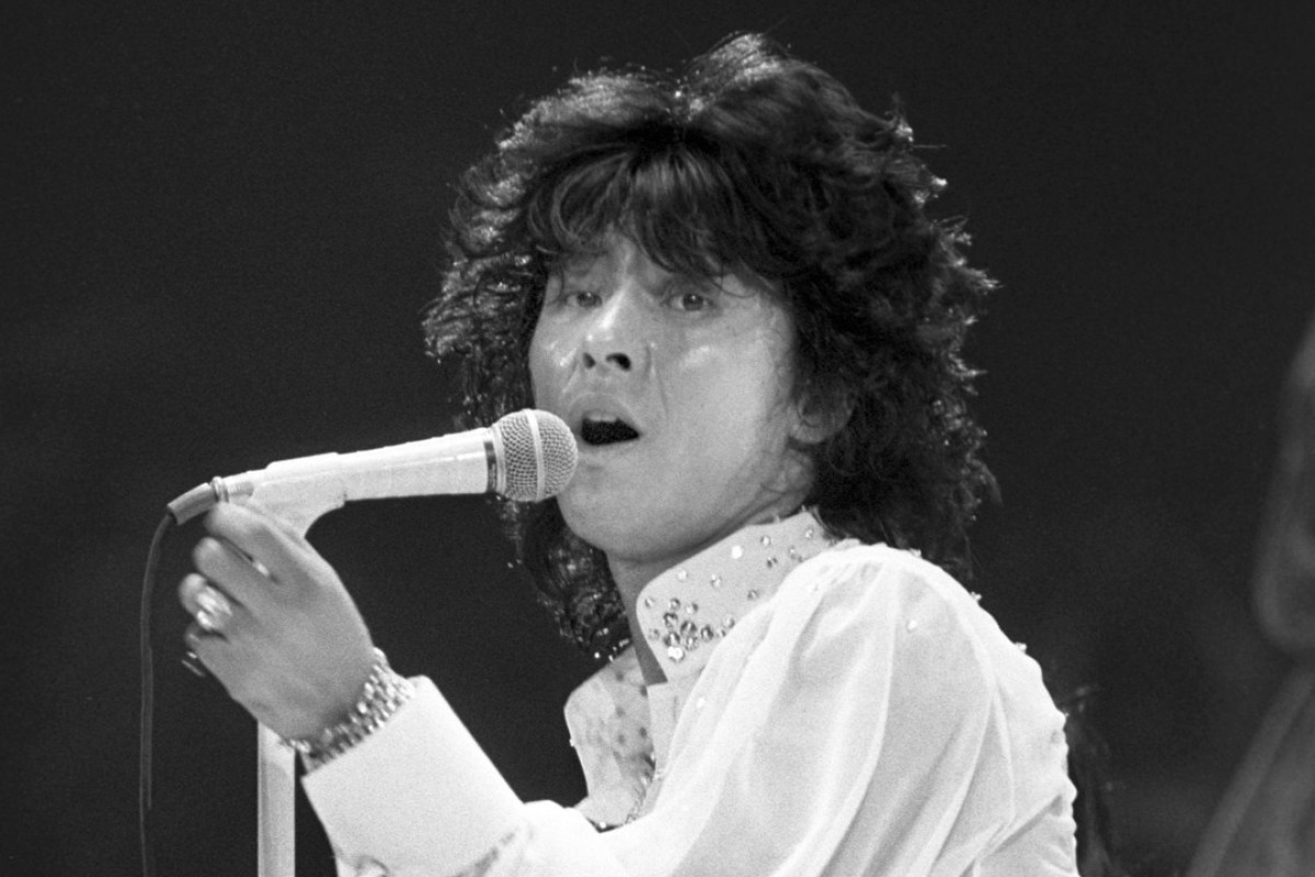 Japanese singer Hideki Saijo, pictured performing in 1979, who was best known for his cover version of the international hit Y.M.C.A., has died aged 63. Photo: Kyodo