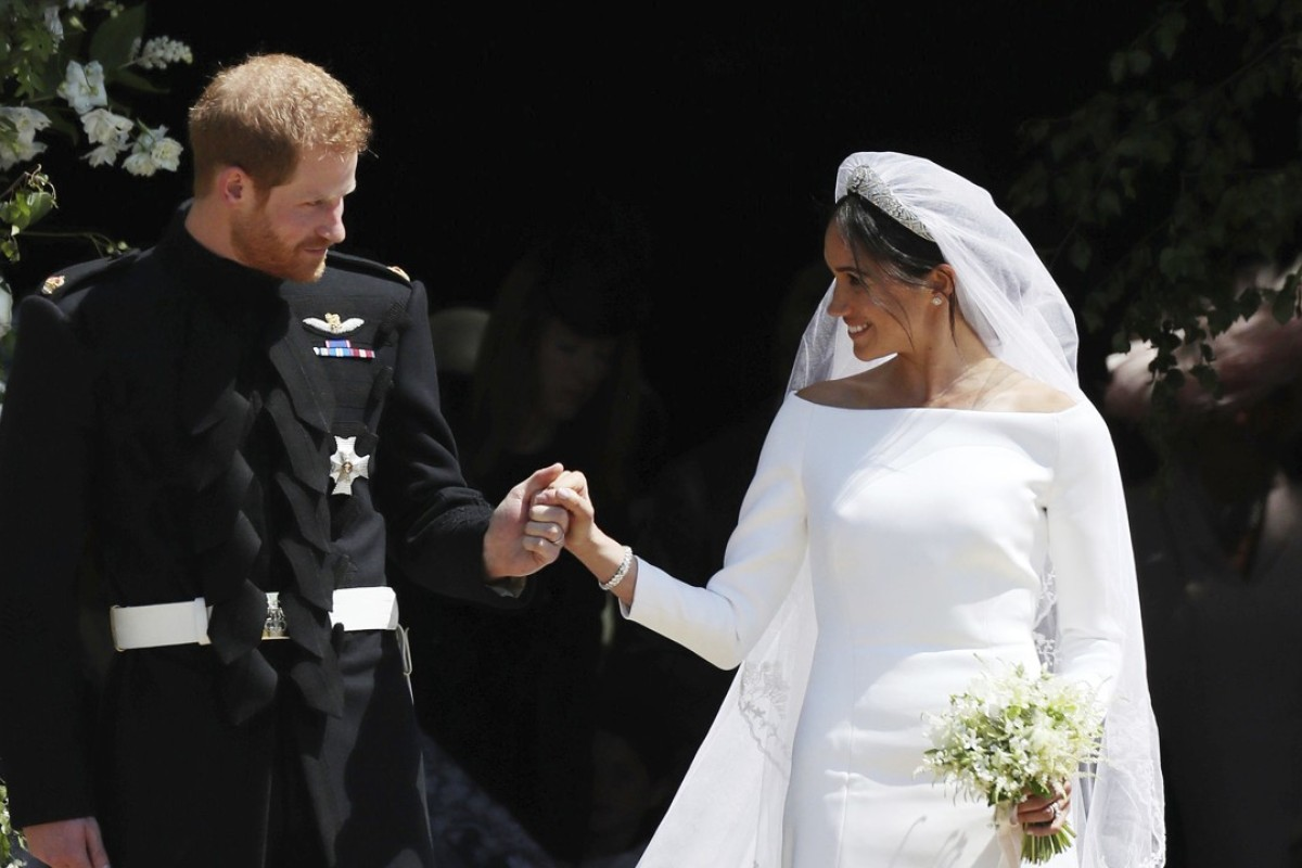 Meghan Markle chose a simple, sculptural, elegant design by Givenchy for her wedding gown. Photo: Jane Barlow/AP