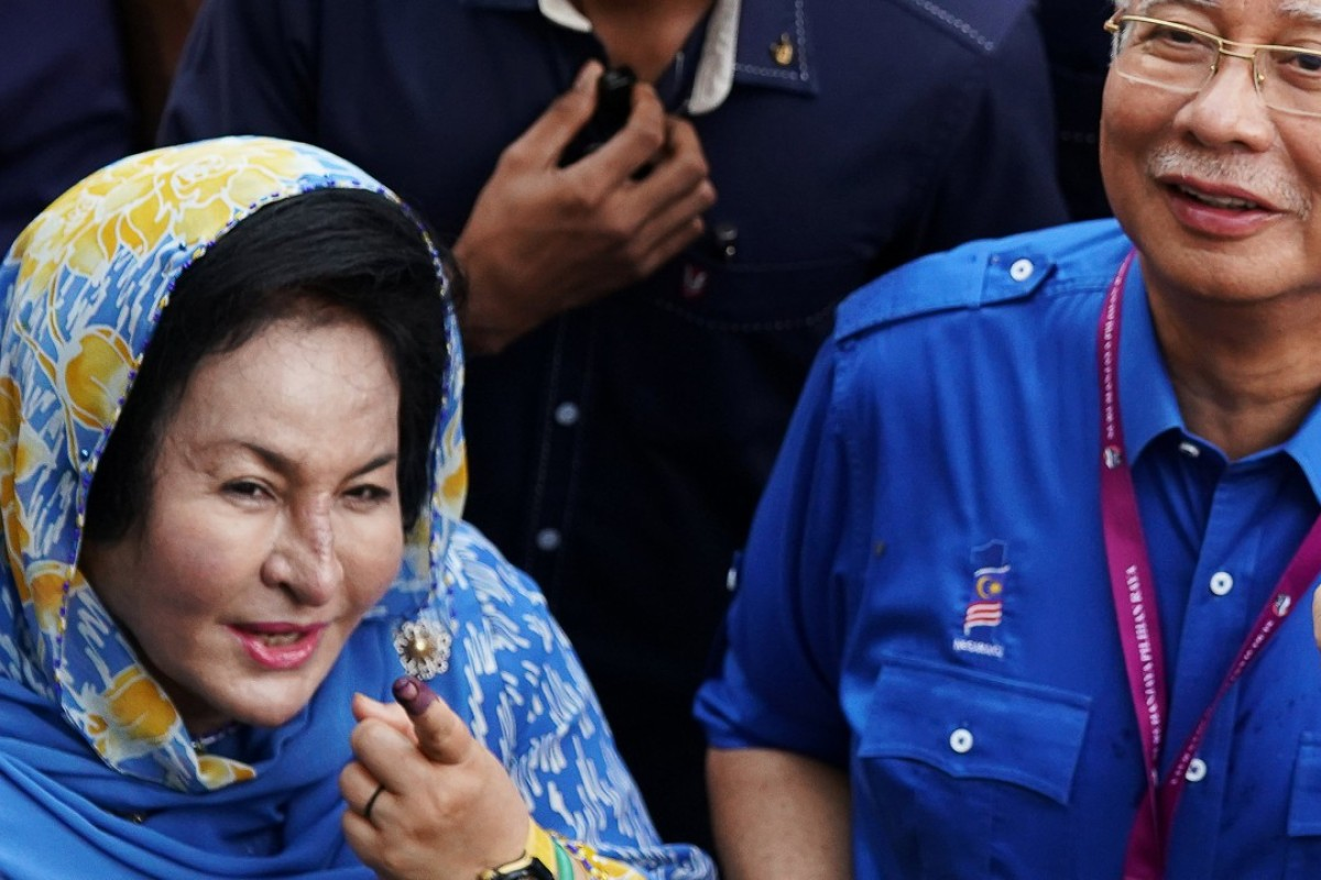 Malaysia's former prime minister Najib Razak with his wife Rosmah Mansor. Rosmah has been grilled on social media for her pricey collection of Hermes bags. Photo: Reuters