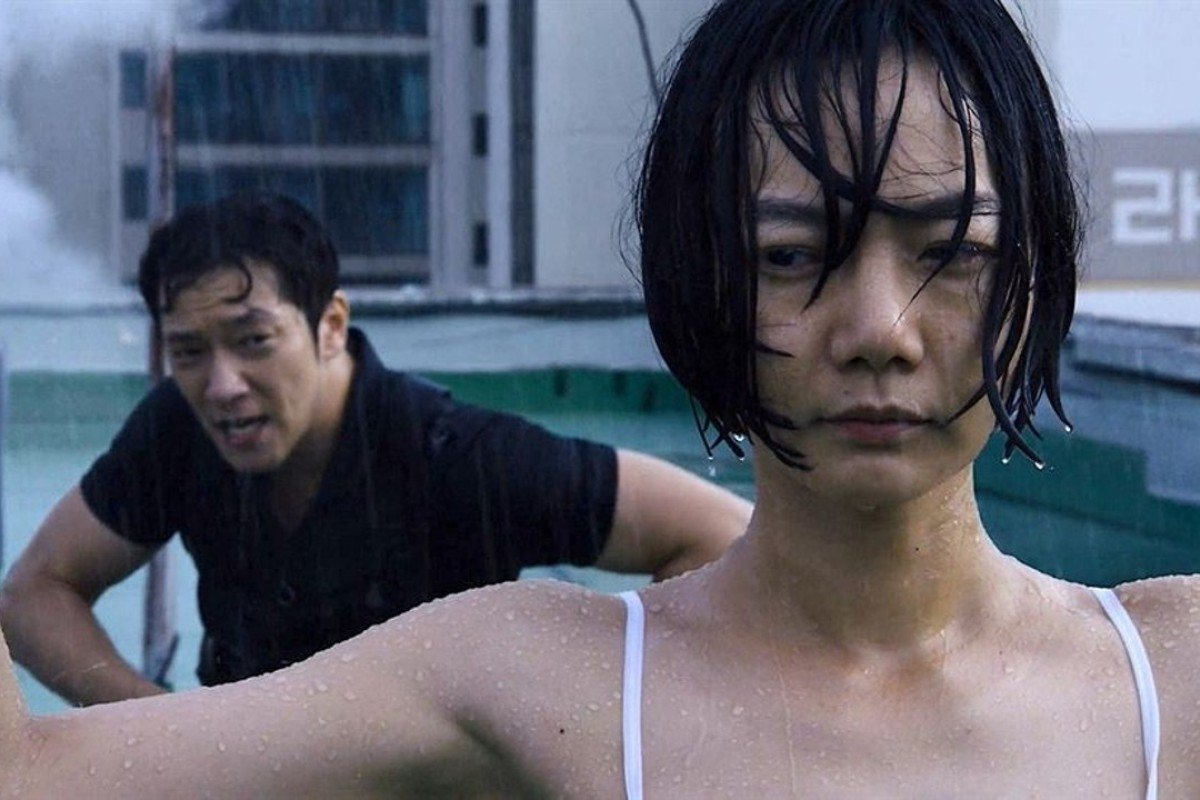 Actors Son Sukku (left) and Bae Doona, pictured in an action scene from Netflix's 'Sense8', are reportedly dating.