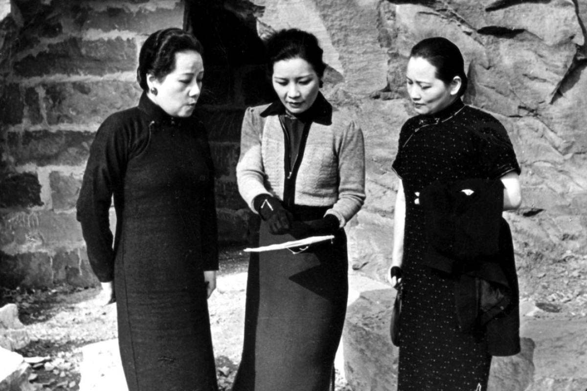The Soong sisters (from left) Ailing, Meiling and Chingling, in Chongqing, in the 1940s.