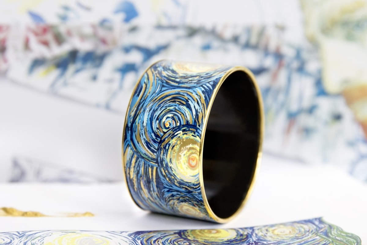 A Bangle Inspired By Vincent Van Gogh S The Starry Night Which Forms
