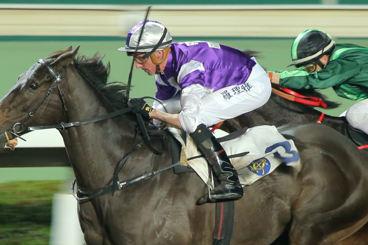 Nash Rawiller guides Almababy to victory in January. Photos: Kenneth Chan