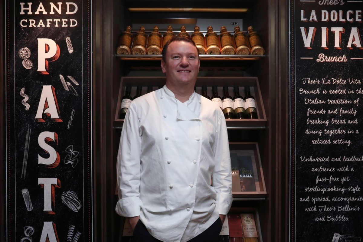 Chef Theo Randall at new Italian restaurant Theo Mistral by Theo Randall, in Tsim Sha Tsui. Picture: Jonathan Wong