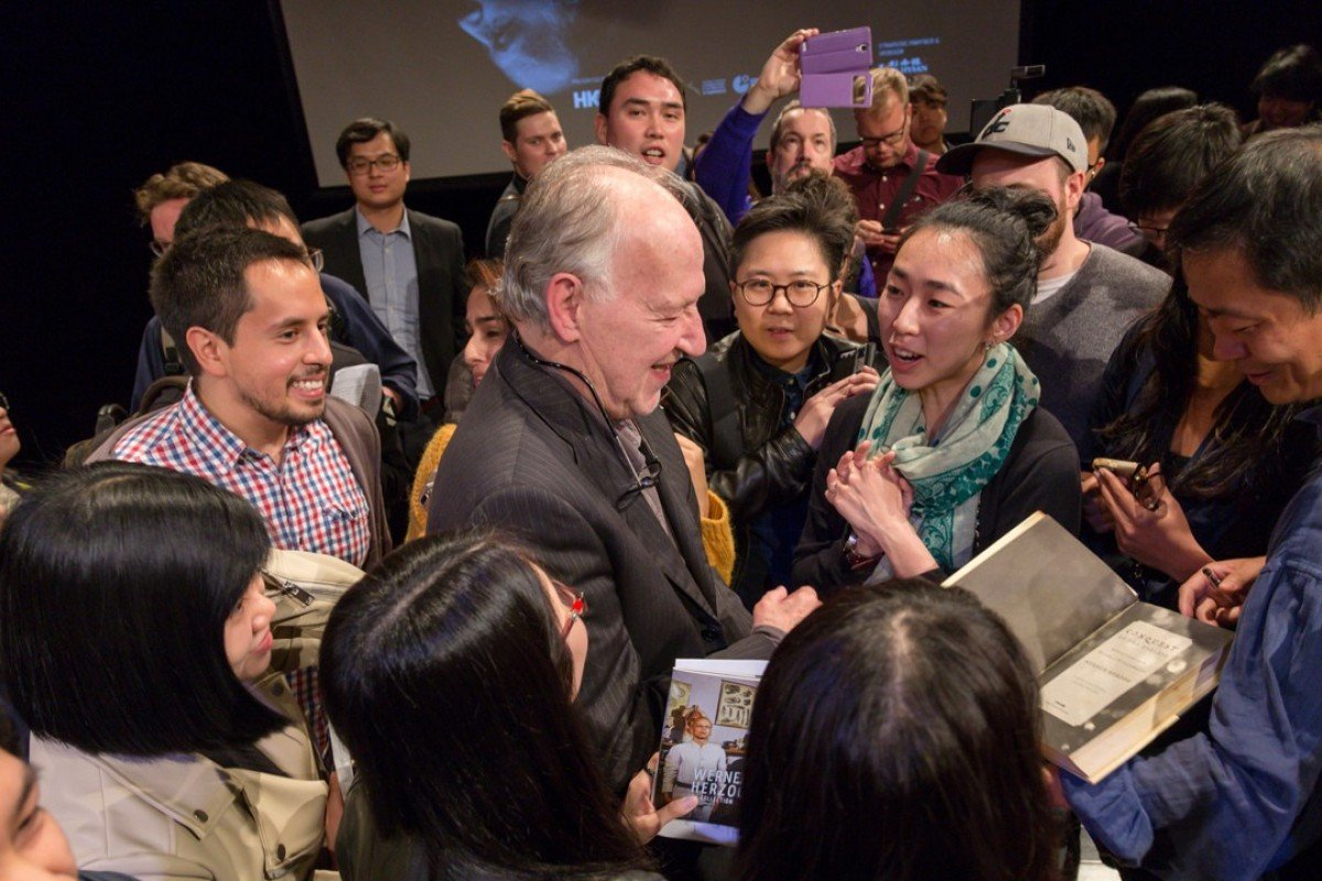 German filmmaker Werner Herzog at a seminar organised by the Hong Kong Documentary Initiative at the University of Hong Kong in March 21. Picture: courtesy of Hong Kong Documentary Initiative