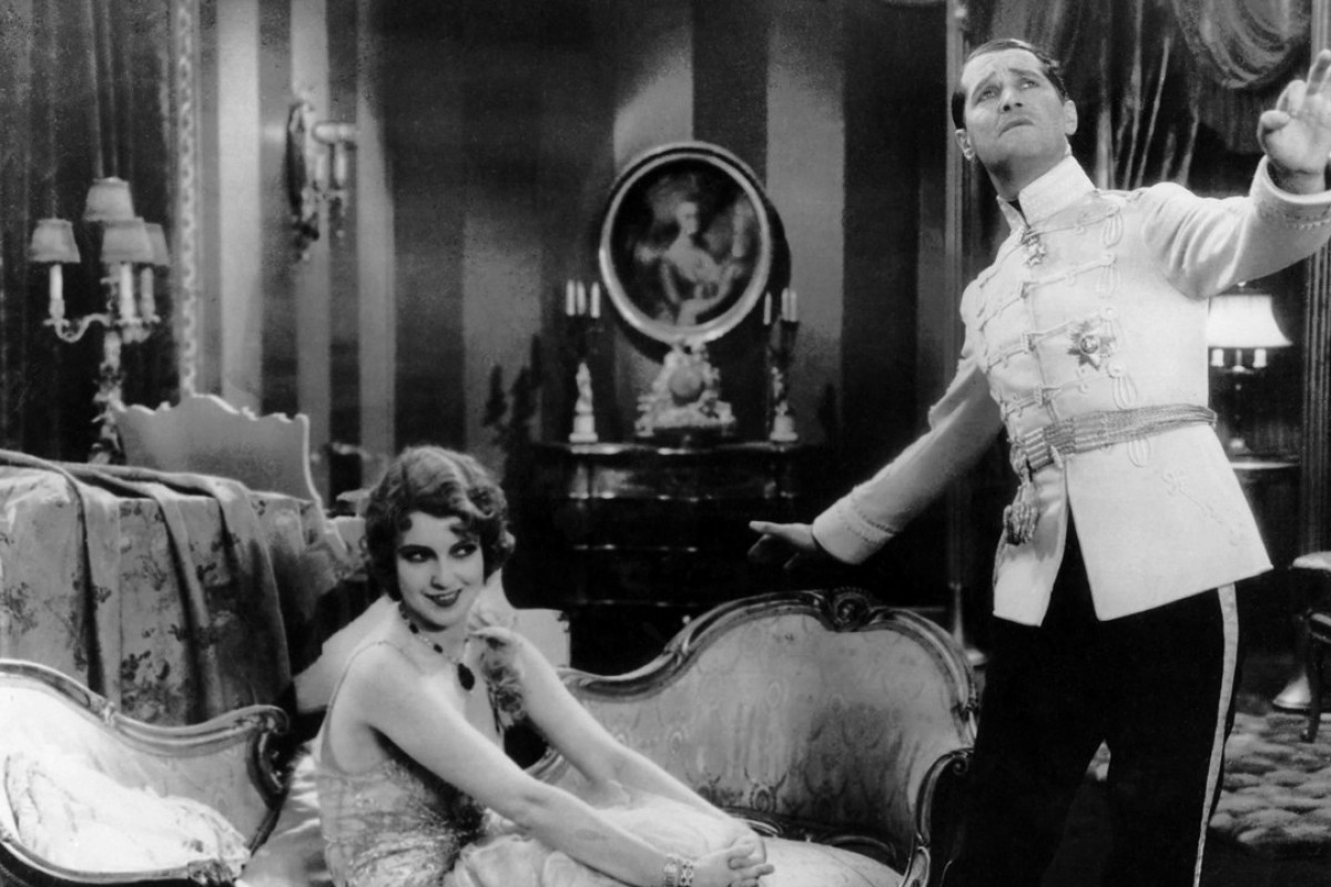 Maurice Chevalier (right) and Jeanette MacDonald in The Love Parade. Picture: Paramount