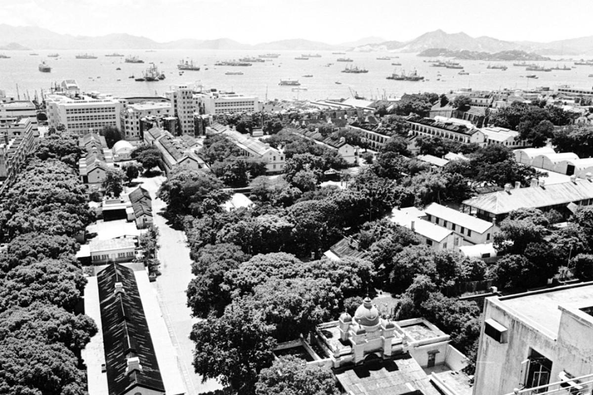 The Whitfield Barracks in Tsim Sha Tsui, in 1968.