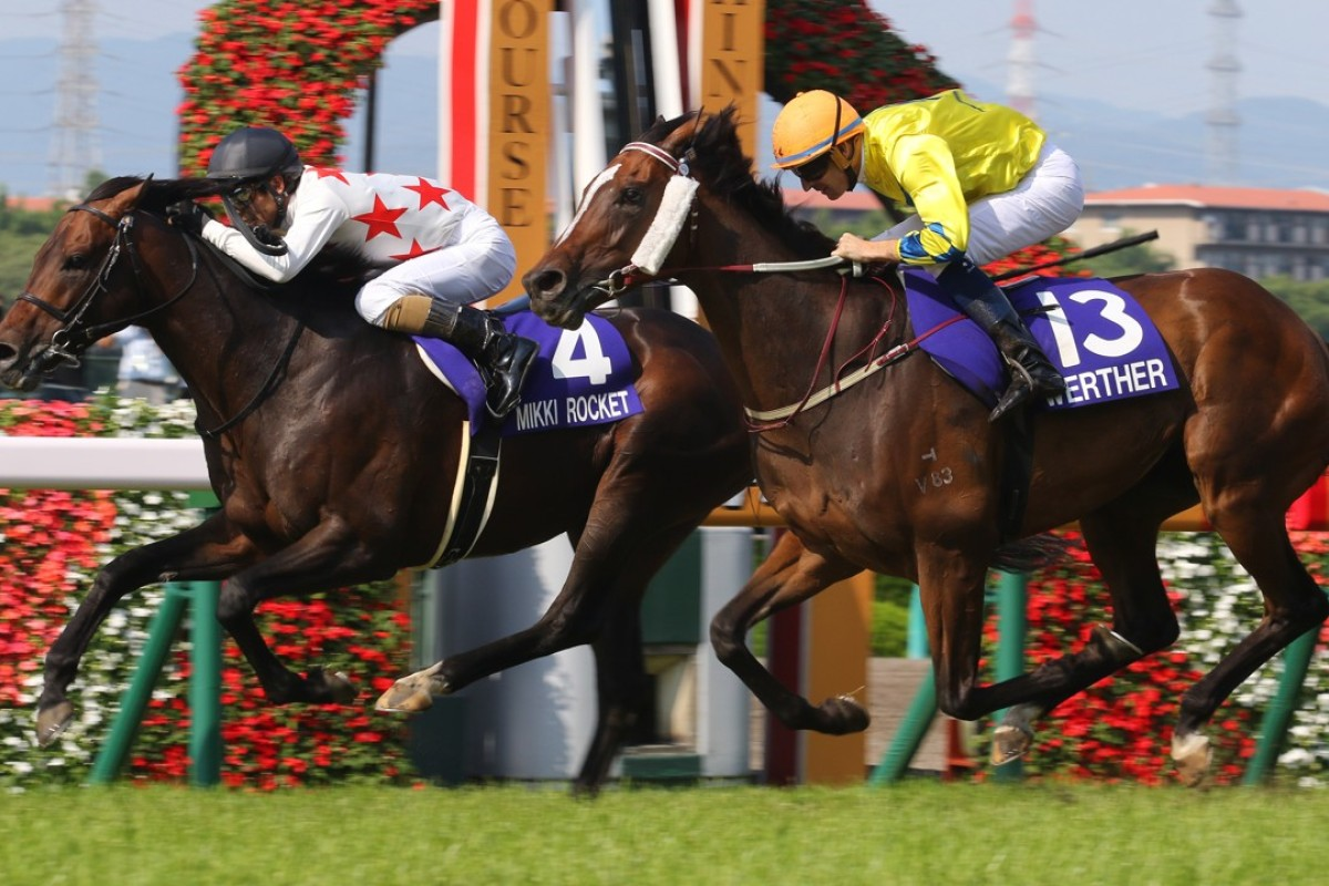 Hugh Bowman and Werther (right) just fall short in Japan. Photos: Kenneth Chan