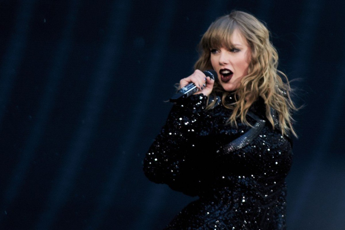Taylor Swift performs at Wembley Stadium in London on Friday night as part of her Reputation Stadium Tour. Photo: EPA-EFE