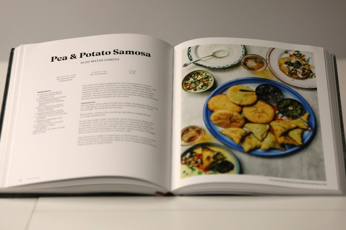A recipe for pea and potato samosa from The Indian Vegetarian Cookbook, by Pushpesh Pant.Picture: Tory Ho