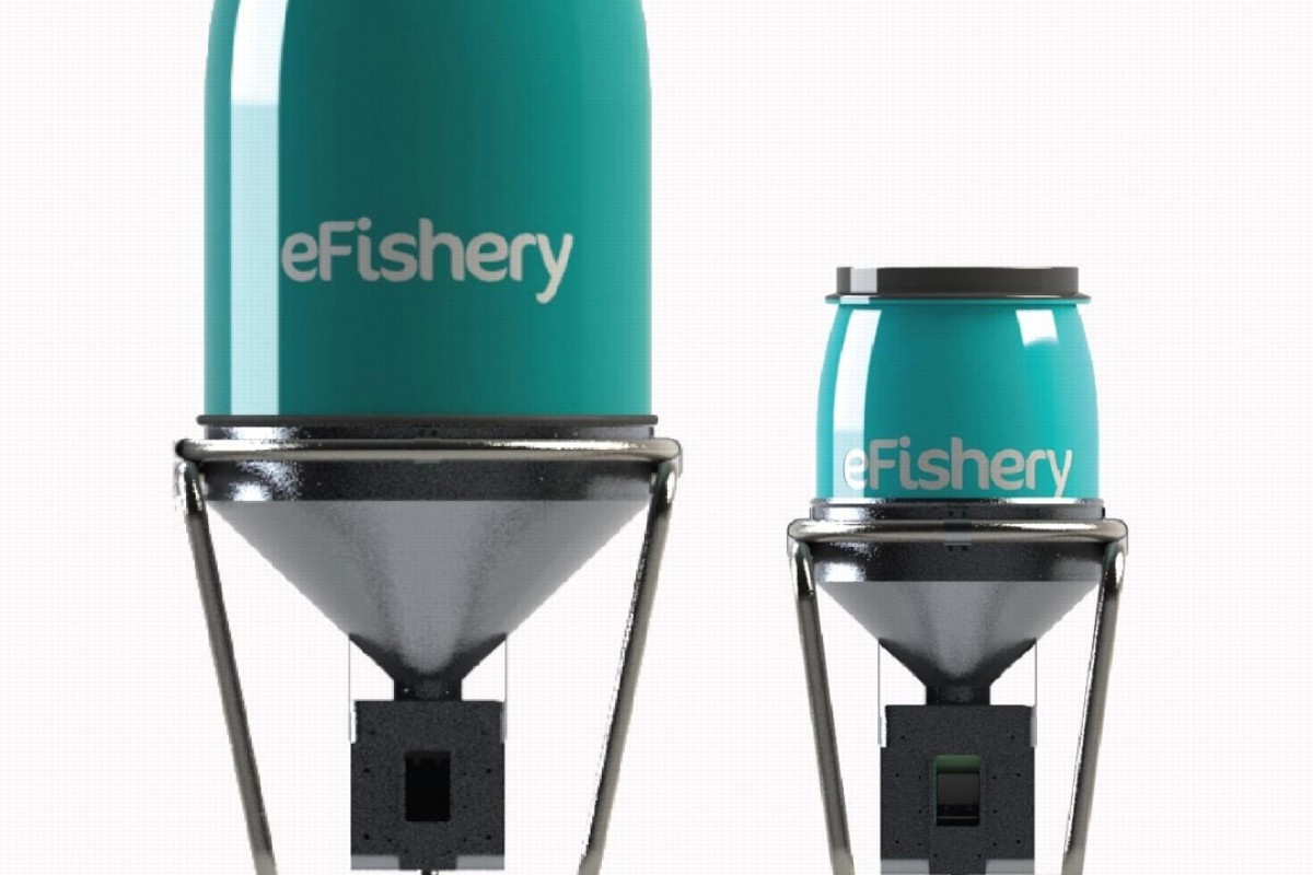EFishery has developed a smart fish and shrimp auto feeder that knows when fish are hungry.