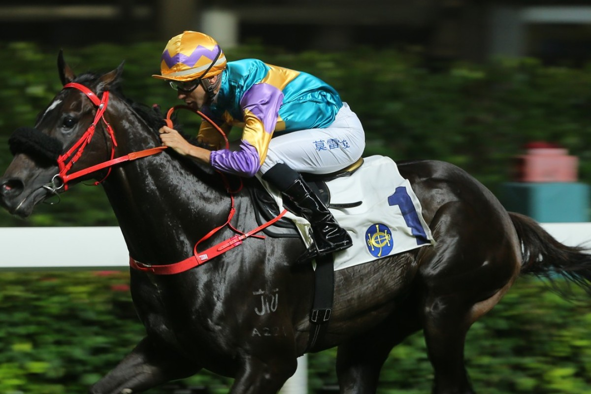 Joao Moreira drives Zero Hedge to victory in May. Photo: Kenneth Chan