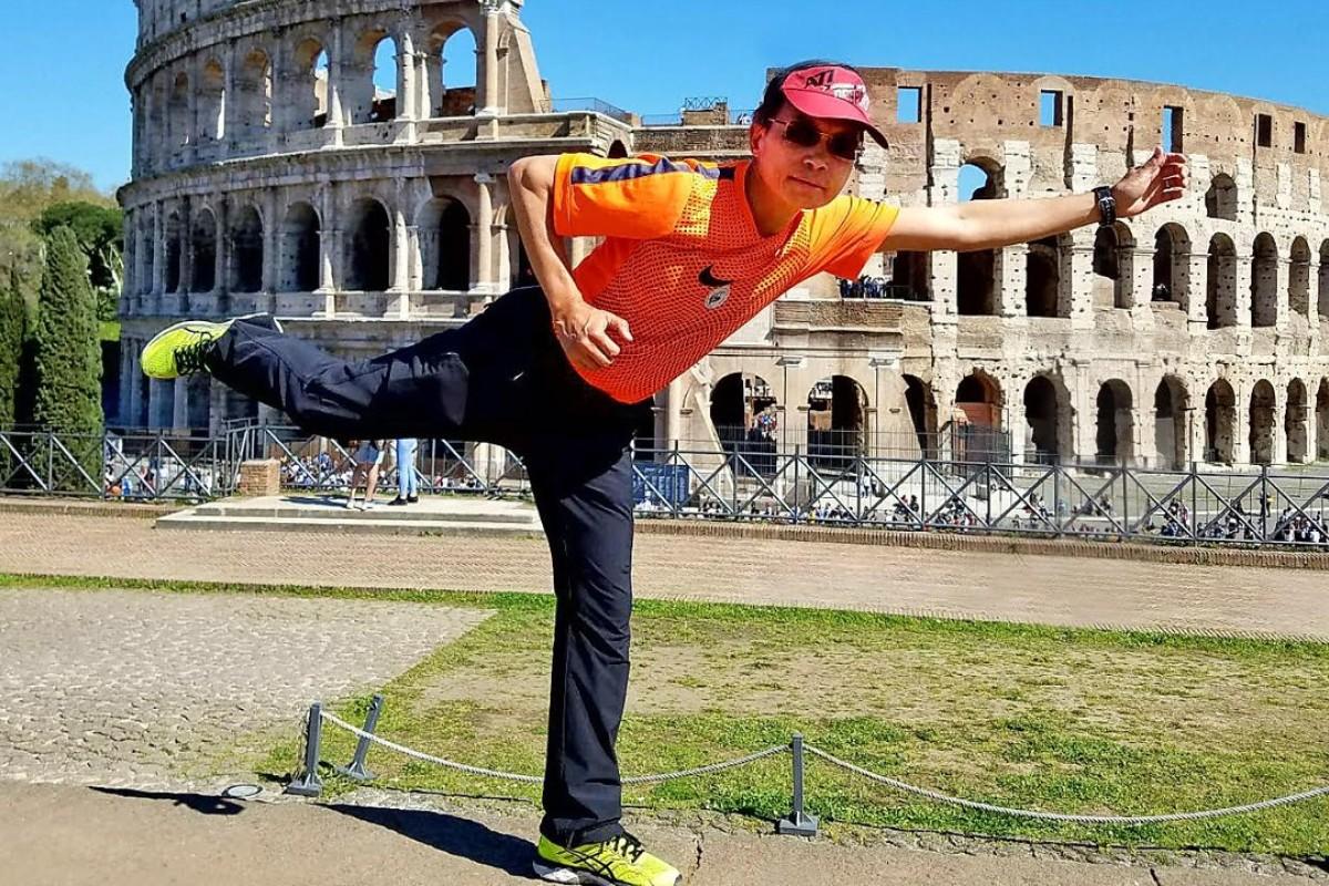 Walter Cheung ran his 70th marathon in Rome. Photos: Handout