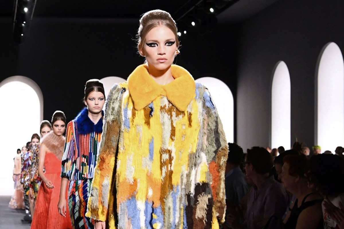 Models present creations by Fendi at the Haute Couture collection in Paris on July 4, 2018. Photo: AFP