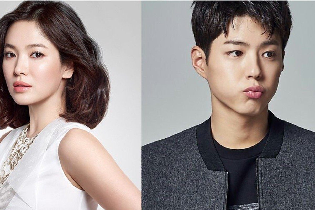 South Korean actress Song Hye-kyo (left) and Park Bo-gum are to co-star in the forthcoming television drama, 'Boyfriend'. Photo: ALLKPOP
