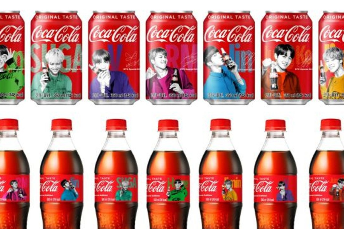 Coca-Cola's special BTS packages featuring BTS members. Photo: Coca Cola