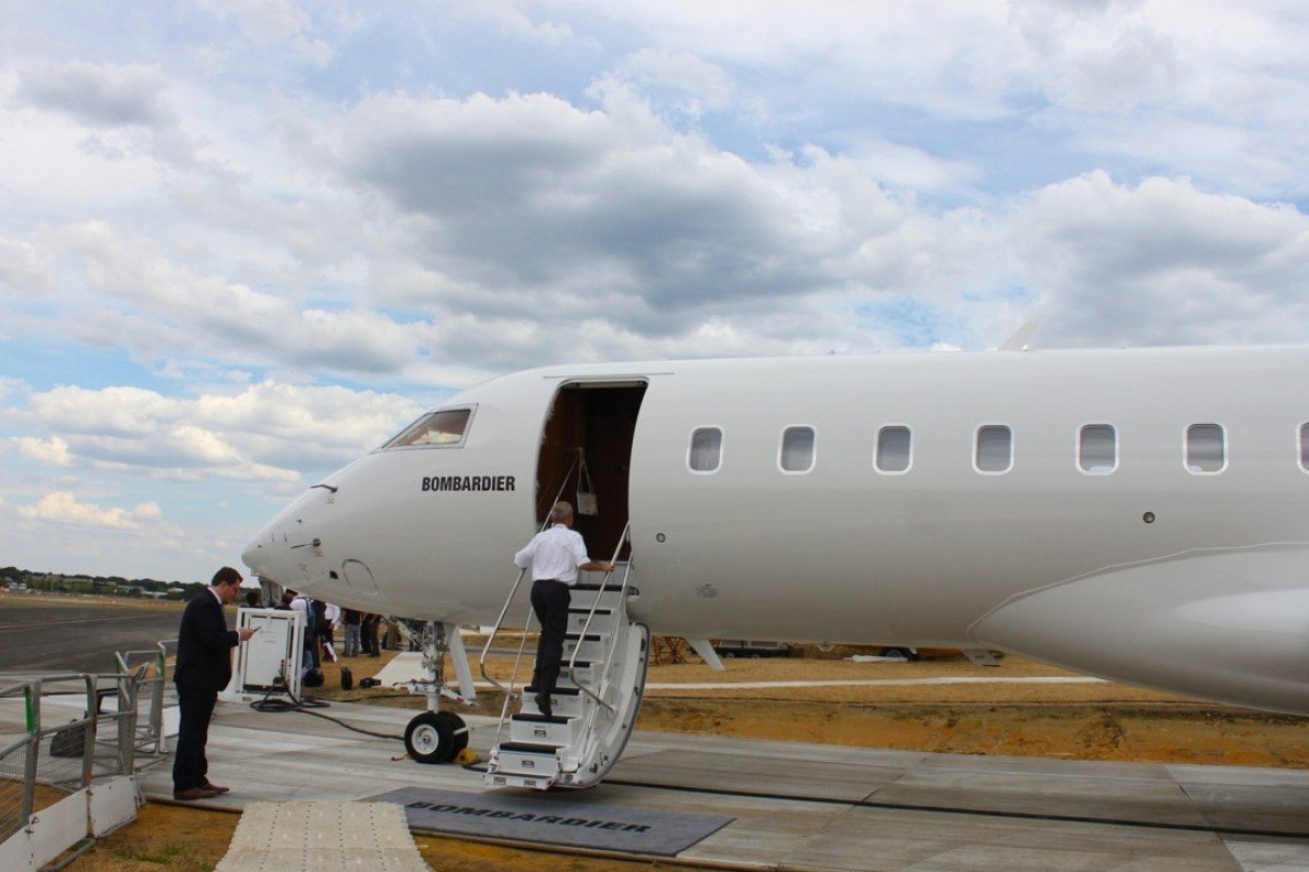 Bombardier displayed its Global 6000 private jet (above) at the 2018 Farnborough International Airshow, in England, which ended on July 22. Photo: Business Insider