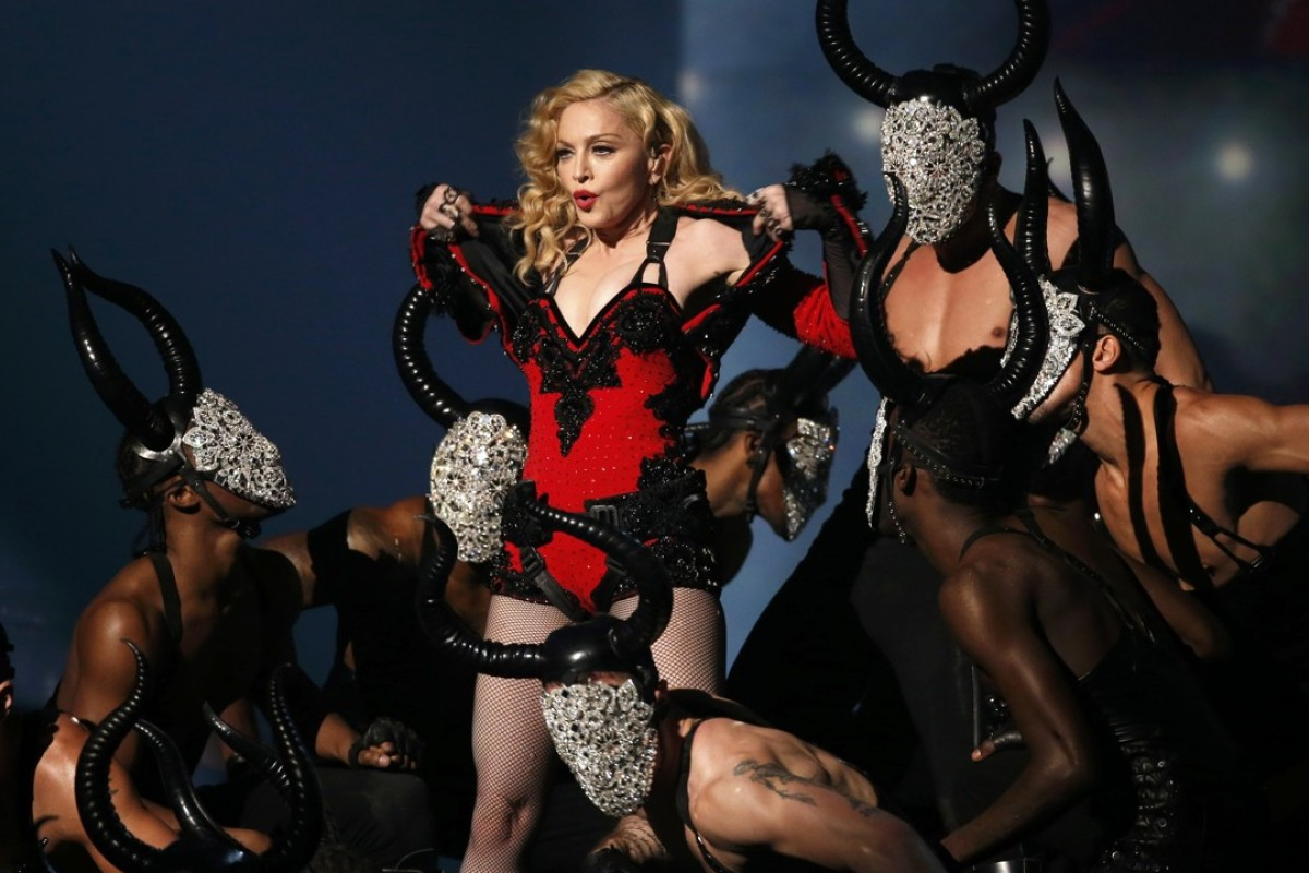 Madonna performs 'Living For Love' at the 57th annual Grammy Awards in Los Angeles, California in February, 2015. The Queen of Pop turns 60 today. Photo: Reuters