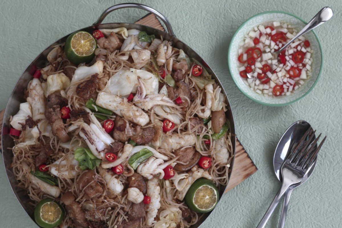 Susan Jung's squid, pork belly and cabbage pancit. Photography: Jonathan Wong. Styling: Nellie Ming Lee
