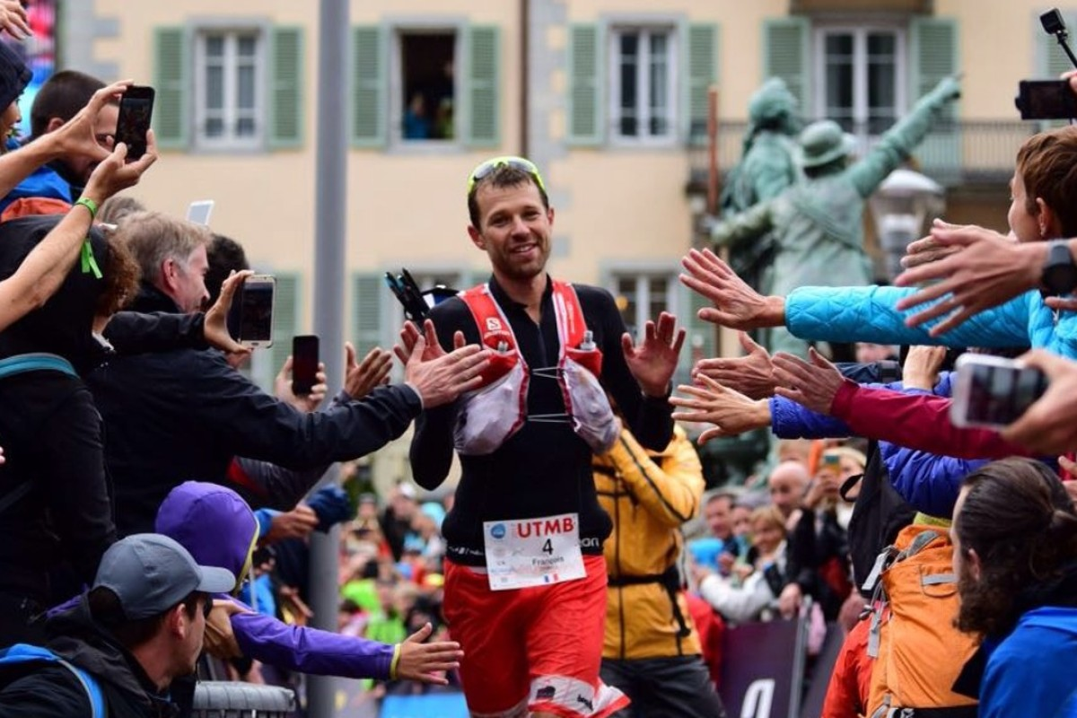 Francious D'Haene wins the 2017 UTMB. Photo: Hoka One One