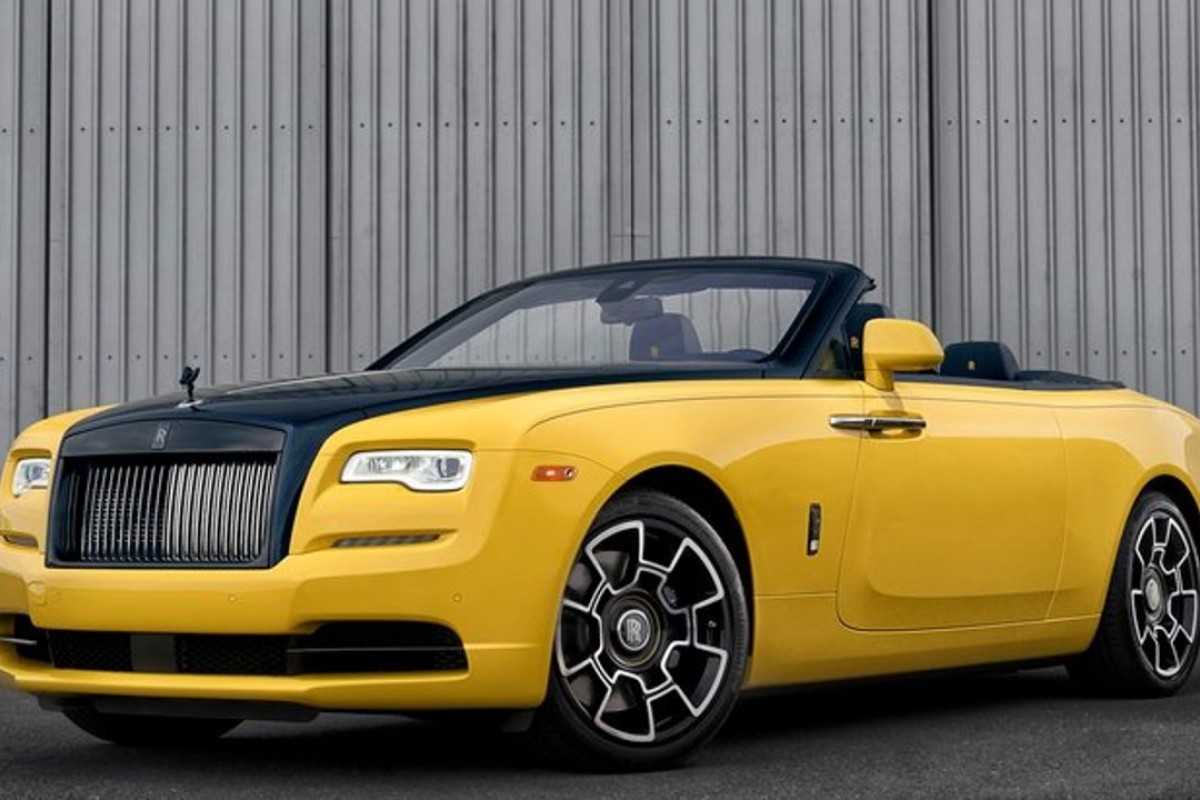 Google Exec Picks Up His Customised Yellow Rolls Royce Dawn Black