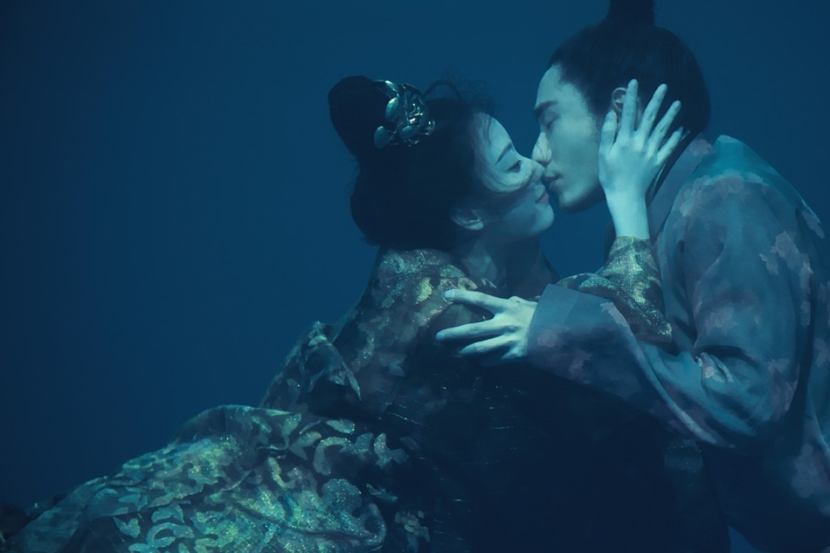 Ni Ni, as Feng Zhiwei, and Chen Kun as Ning Yi in a scene from the new 70-part Chinese television drama 'The Rise of Phoenixes, which will begin on Netflix on September 14.