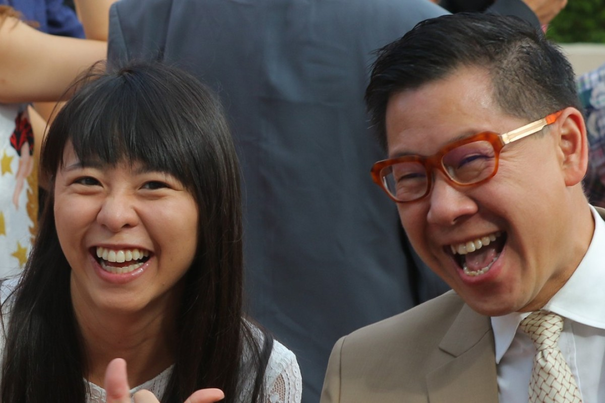 Dennis Yip celebrates with ex-jockey Kei Chiong. Photos: Kenneth Chan