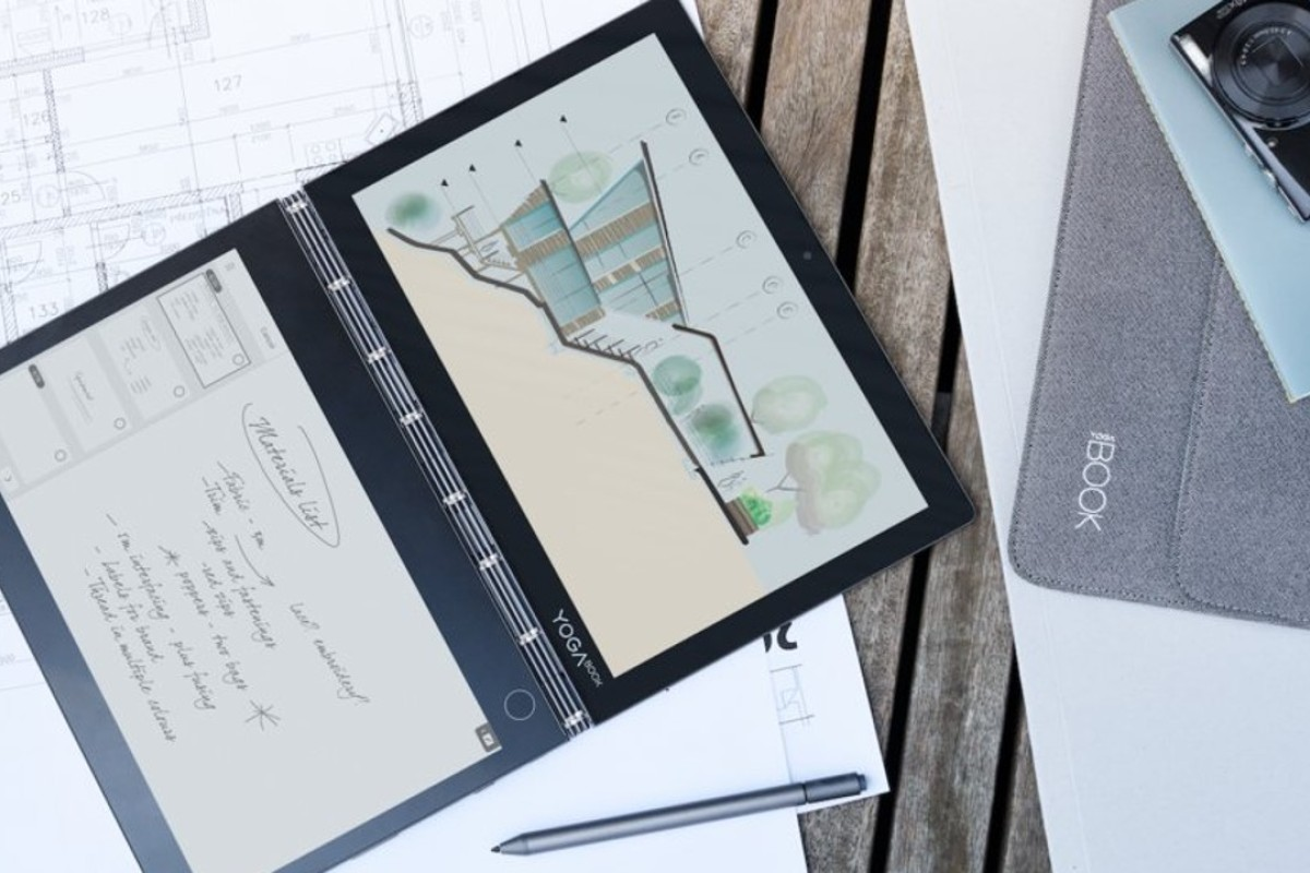 Lenovo's Yoga Book C930 features an E-Ink display on one side and a liquid-crystal display laptop screen on the other side.