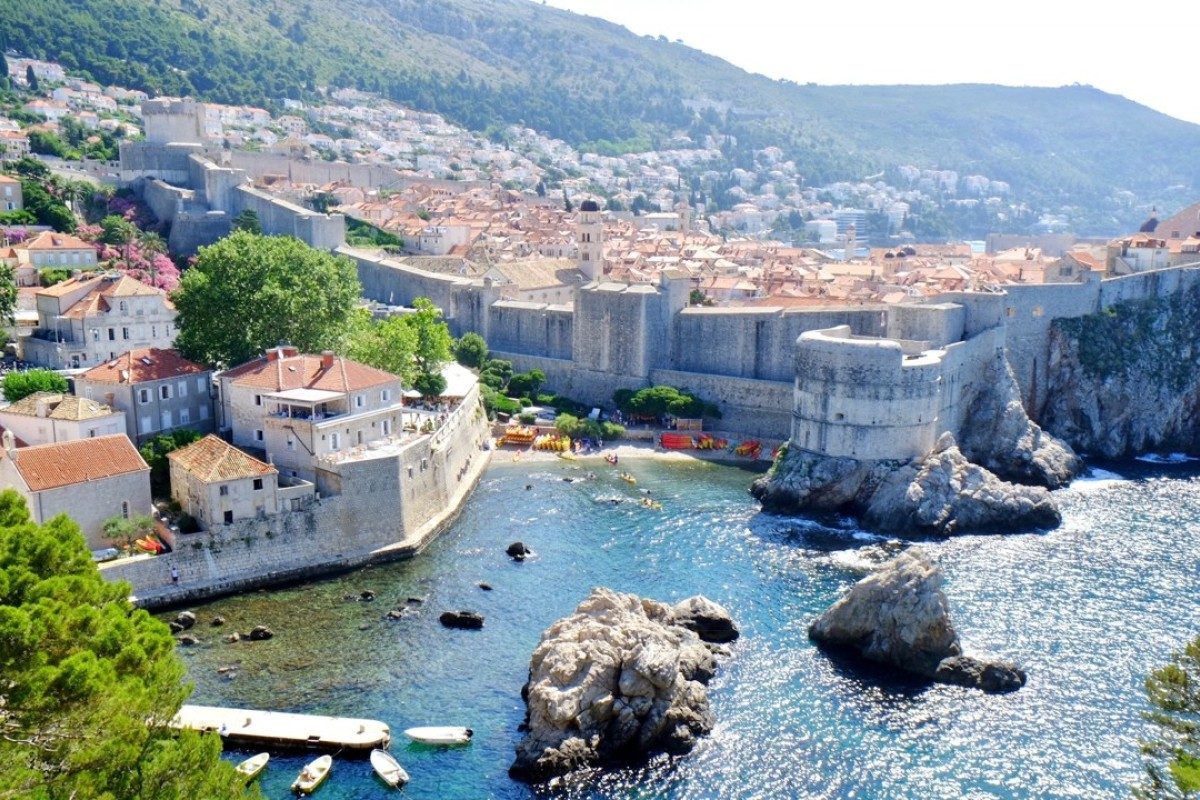 The view from Dubrovnik's ancient city walls. Pictures: Jeanne Tai