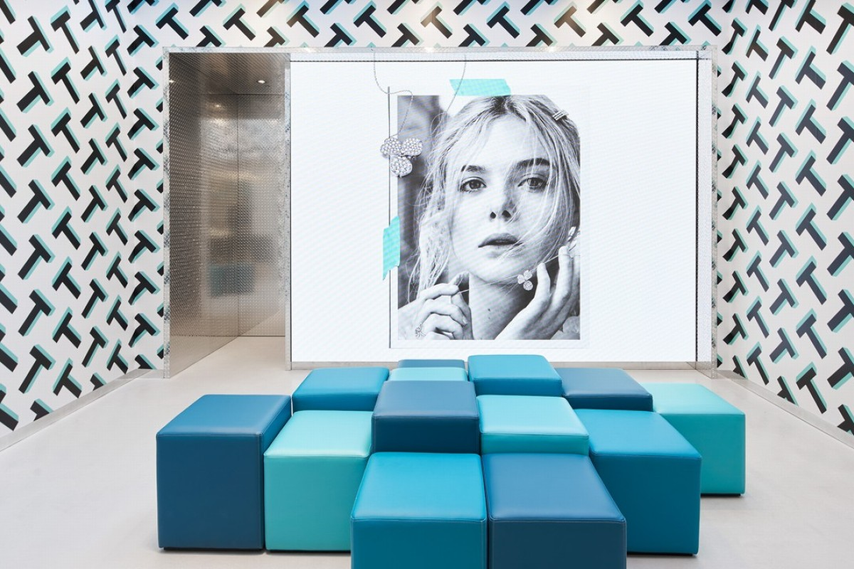 Tiffany & Co.'s Style Studio in Covent Garden, London. It features bold design aesthetics and is very Instagrammable.