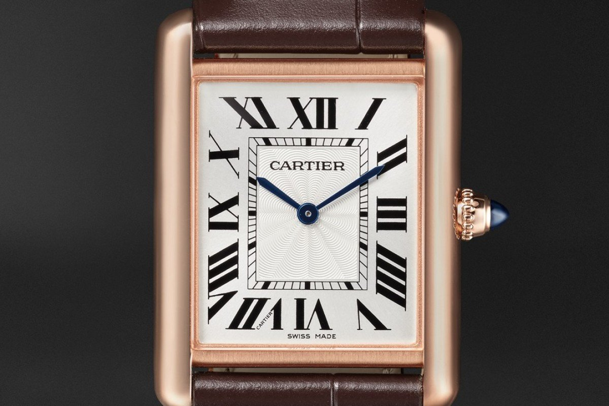 The Tank Louis Cartier, now available online via Mr Porter, which sells a wide range of luxury watches.