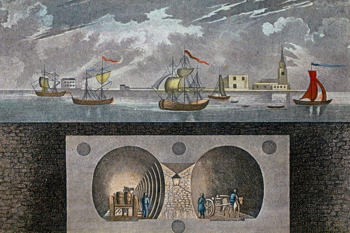 A souvenir print of London's Thames Tunnel, which opened in 1843. Pictures: Alamy