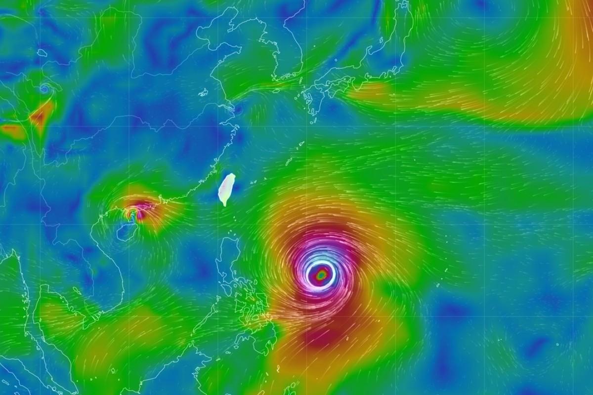 Typhoon Mangkhut. Photo: Central Weather Bureau