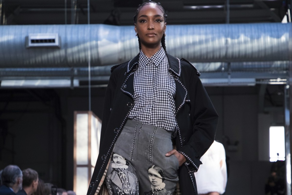 Model Jourdan Dunn wears a creation from Burberry's spring-summer 2019 collection show, featuring edgier, luxury designs at London Fashion Week on Monday. Photo: Invision/AP