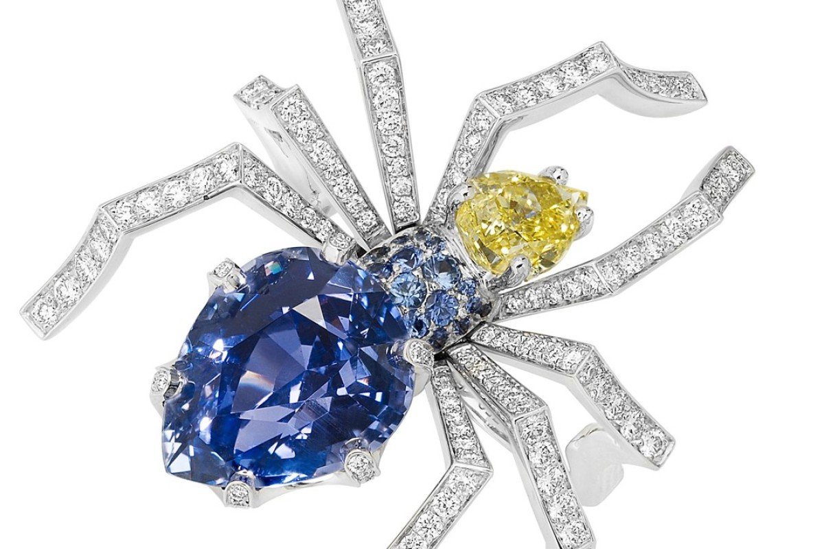 Chaumet. The Attrape-moi … si tu m'aimes spider ring, in 18ct white gold, is set with blue sapphires, yellow diamonds and diamonds, adding a sparkling touch to Halloween festivities. Price on request