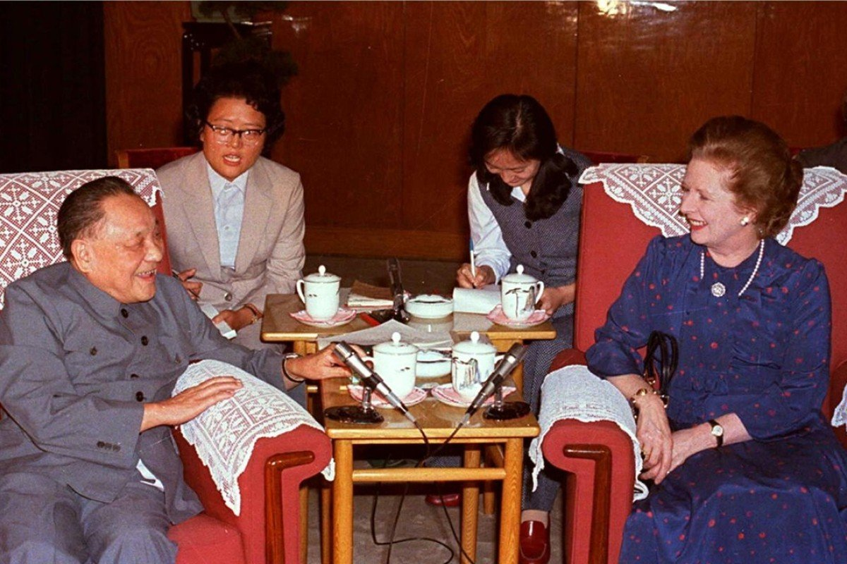 Deng Xiaoping meets Margaret Thatcher in Beijing on September 24, 1982. Picture: AFP